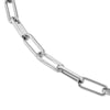 Silver Double Small Multi Link & Elongated Link Chain Necklace