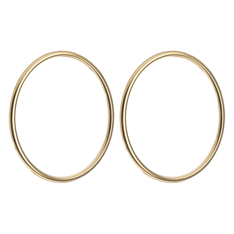 Thin Large Circle Earrings