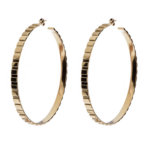 Rectangle Step Pattern Hoops