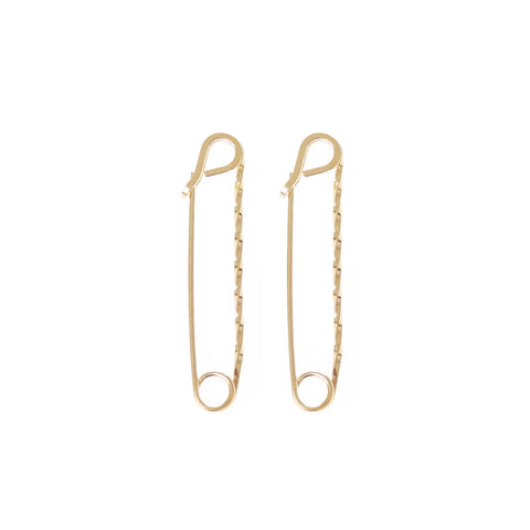 MEDIUM TWISTED SAFETY PIN EARRINGS