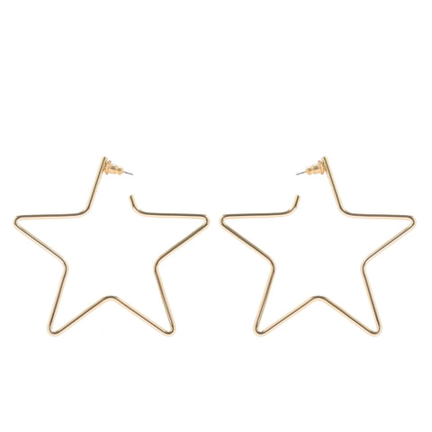 LARGE FULL STAR EARRINGS