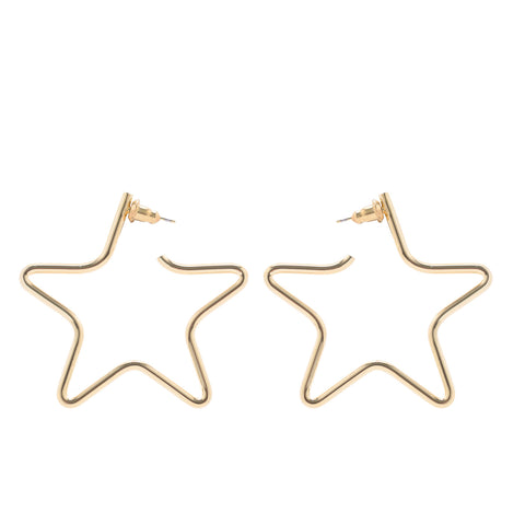 MEDIUM FULL STAR EARRINGS