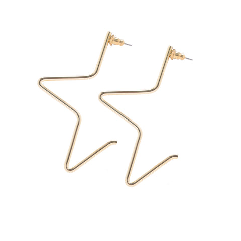 LARGE 1/2 STAR EARRINGS