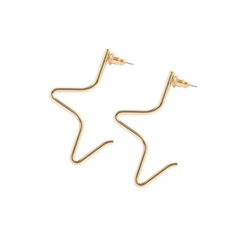 MEDIUM 1/2 STAR EARRINGS