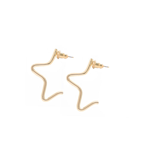 SMALL 1/2 STAR EARRINGS