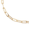 Double Elongated & Large Elongated Link Chain Necklace