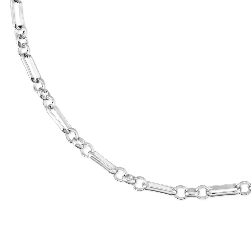 Silver Double Small Multi Link Chain Necklace