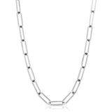 Silver Large Elongated Link Chain