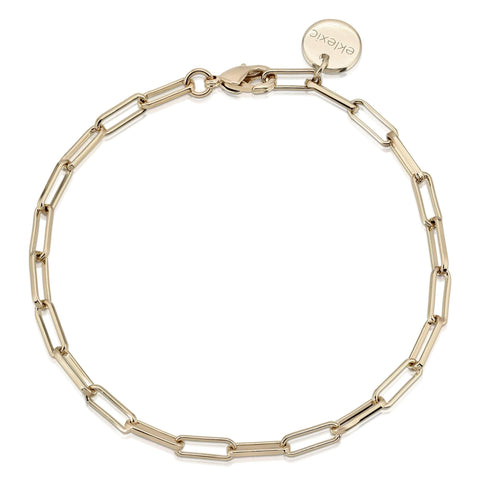 Elongated Link Chain Bracelet