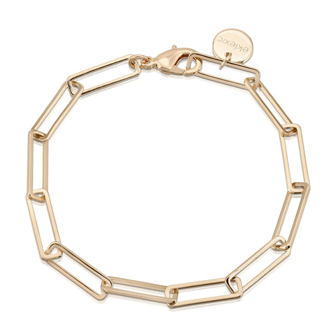 Large Rectangle Link Chain Anklet