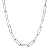 Silver Large Rectangle Link Chain