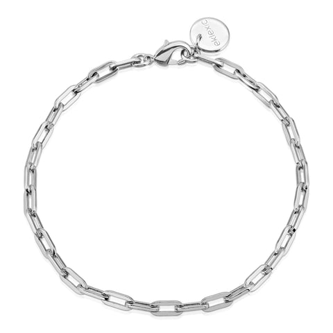 Silver Medium Link Chain Anklet