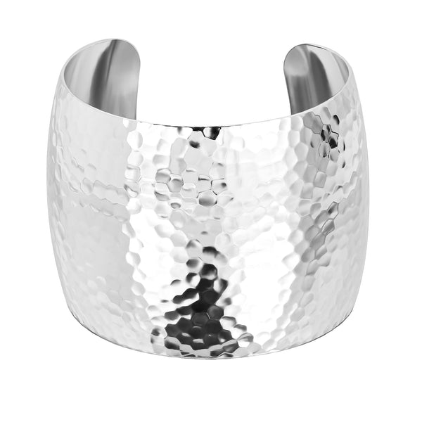 2 Inch XL Domed Hammered Cuff