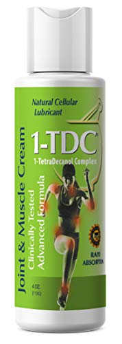 1TDC – Joint & Muscle Relief Cream – 4 oz – Professionally Formulated to Soothe, Relax & Promote Healing – 1-TetraDecanol Complex Supports Natural Joint Flexibility – Effective & Paraben Free