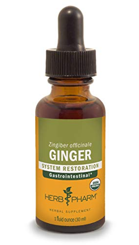 Herb Pharm Certified Organic Ginger Liquid Extract for Digestive Support - 1 Ounce
