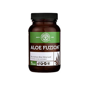 Global Healing Center Aloe Fuzion Bio-Active Aloe Vera Leaf Supplement | 200x Concentrate Formula Made from Organic Aloe with Highest Concentration of Acemannan | Aloin-Free | 60 Capsules