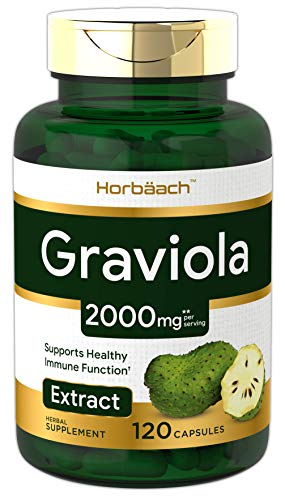 Graviola Extract 2000 mg 120 Capsules | Non-GMO, Gluten Free | Soursop (Annona Muricata) | by Horbaach