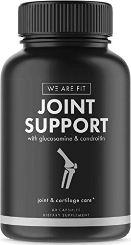 Joint Support Extra Strength Supplement, Ease Joint Pain - Promote Cartilage Longevity, Joint Mobility and Flexibility with Glucosamine Chondroitin Turmeric MSM Boswellia, 60 Veggie Caps