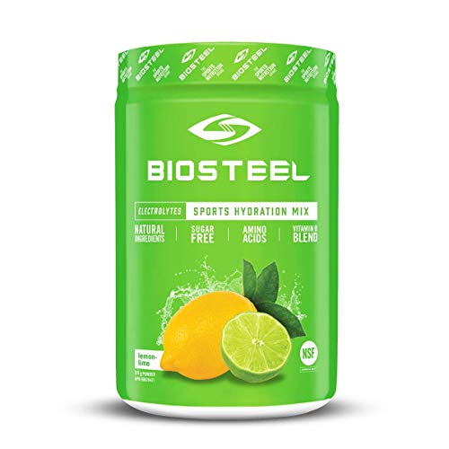 BioSteel High Performance Sports Hydration - Sugar Free Drink Mix, Lemon Lime Flavor, 45 Servings