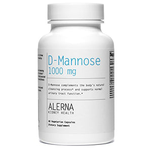 Alerna Kidney Health: D-Mannose (1000mg) with Organic Rose Hips and Cranberry Concentrate to Support Normal Urinary Tract Function