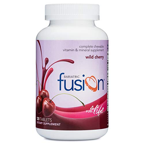 Bariatric Fusion Complete Chewable Multivitamin and Mineral Supplement Wild Cherry 120 Tablets for Gastric Bypass and Sleeve Gastrectomy
