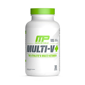 MP Essentials Multivitamin, Multi-V Plus, Daily Multivitamin Supplement with 20-Plus Ingredients for Health Support and Joint Support, Antioxidants, Athlete Multivitamin, 60-Count, 30 Servings