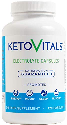 Keto Vitals Electrolyte Capsules | The Original Keto Electrolyte Supplement | Electrolyte Tablets | Eliminate Fatigue and Leg Cramps | Sodium, Potassium, Magnesium & Calcium | Zero Calorie | Zero Carb