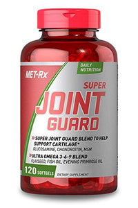 MET-Rx Super Joint Guard Supplement with Glucosamine, Chondroitin, and Omega 3 6 9 Fatty Acids, 120 Softgels