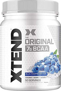 Scivation XTEND Original BCAA Powder Blue Raspberry Ice | Sugar Free Post Workout Muscle Recovery Drink with Amino Acids | 7g BCAAs for Men & Women| 50 Servings