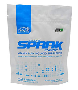 Advocare Blue Raspberry Spark 14 sticks packs(3.5 ounces)