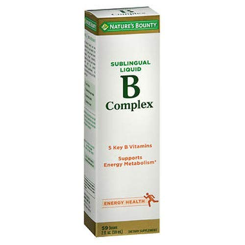 Nature's Bounty Vitamin B Complex Sublingual Liquid 2 oz ( Pack of 4)