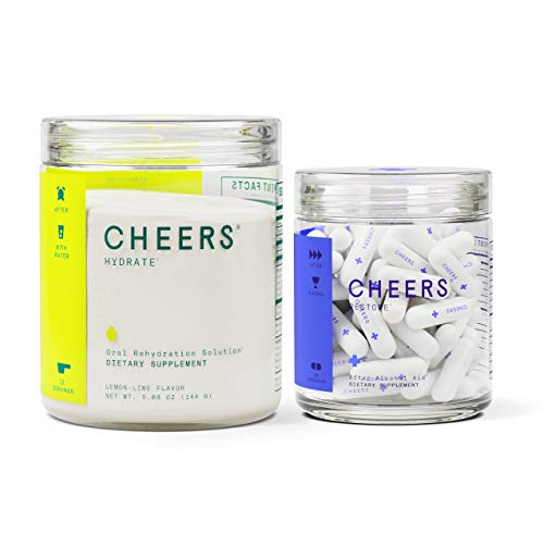 Cheers Restore & Hydrate | After-Alcohol Aid & ORS Combo | for Fast Liver Detox & Rehydration After Drinking Alcohol. Replenish with Our Electrolyte Formula (Single)