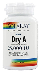 Solaray A Dry 25000IU Supplement, 60 Count