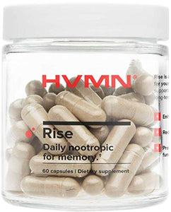 H.V.M.N. Rise - Daily Nootropic & Memory Supplement - Bacopa Monnieri, Natural Ashwaghanda Extract, CDP Choline, Citicoline Supplement