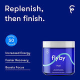 Flyby Keto Electrolyte Powder - 50 Servings - Rapid Rehydration, Recovery, Energy & Leg Cramps - 72 Trace Minerals, Salts, Magnesium, Potassium, Sodium, Calcium - NO Sugar NO Maltodextrin - Lemon Lime