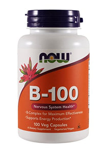 Now Foods B-100, 100 Capsules (Pack of 2)