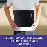Everyday Medical Abdominal Binder Post Surgery – with Bamboo Charcoal Accelerate Healing and Reduce Swelling After C-Section, Abdomen Surgeries, Tummy Tuck, Bladder & Gastric Bypass Belly Girdle