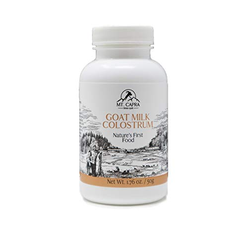 Mt. Capra Goat Milk Colostrum for Healthy Immune System, Gut, and Athletic Performance, Grass-Fed, High in Immunoglobulins | 50 Grams (2900 mg per Serving)