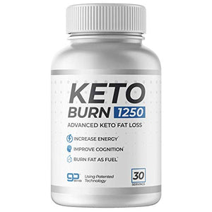 Keto Burn 1250 — Burn Body Fat as Fuel, Boost Energy and, Suppress Appetite for Weight Loss and Performance (30 Servings)