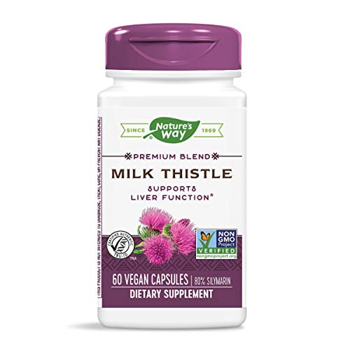 Nature's Way Premium Extract Standardized Milk Thistle 80% Silymarin, 60 Capsules