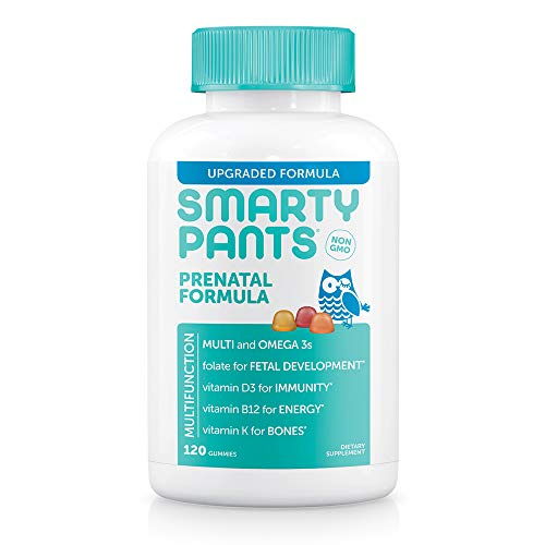 SmartyPants Prenatal Formula Daily Gummy Vitamins, 120 Count (Pack of 1) - Packaging May Vary