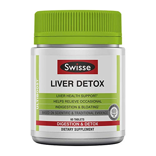 Swisse Ultiboost Liver Detox Tablets, Three Pack (180 Tablets/Bottle), Traditional Herbal Based Supplement, Supports Liver Health and Function*