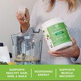 Amazing Grass GLOW Vegan Collagen Support with Biotin and Plant Based Protein Powder, Unflavored, 15 Servings