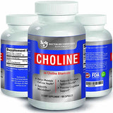 Doctor Recommended Choline Supplement – 500 mg (100 ct) - Boosts Brain & Memory Health – Improves Cognitive Function – Promotes Focus and Alertness – Natural – Vegan – Kosher – Made in The USA