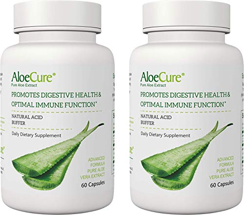AloeCure® Advanced Formula for Immune Support, Acid Buffer for Bouts of Acid Reflux and Heartburn, Support Regularity, Helps Stomach Discomfort.2 Pack