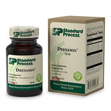 Standard Process Drenamin - Whole Food Antioxidant, Mood Support, Adrenal Support and Immune Support with Shitake, Alfalfa, Rice Bran, Riboflavin, Calcium Lactate, Choline - 90 Tablets