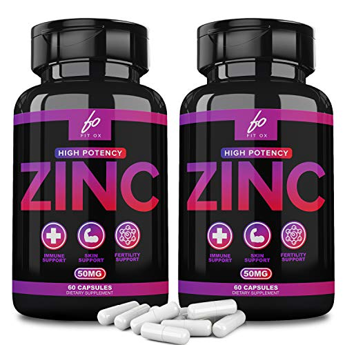 Pure Zinc Supplement Vitamin Pills Capsules 50mg Oxide for Adults Kids - Alternative to Lozenge, Liquid, Gummies, Chewable Tablets - Formulated for Immunity, Zinc Citrate Supplements (2 Month Supply)