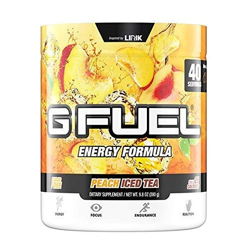 G Fuel Peach Iced Tea Tub (40 Servings) Elite Energy and Endurance Formula