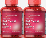 Puritans Pride Red Yeast Rice 600 Mg Capsules, 480 Count (2 Pack)