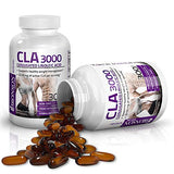 CLA 3000 Extra High Potency Supports Healthy Weight Management Lean Muscle Mass Non-Stimulating Conjugated Linoleic Acid 300 Softgels